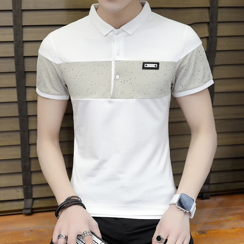Shop DaMaiZhang Brand Men\u0027s Polo Business Casual Shirt Slim tshirt
