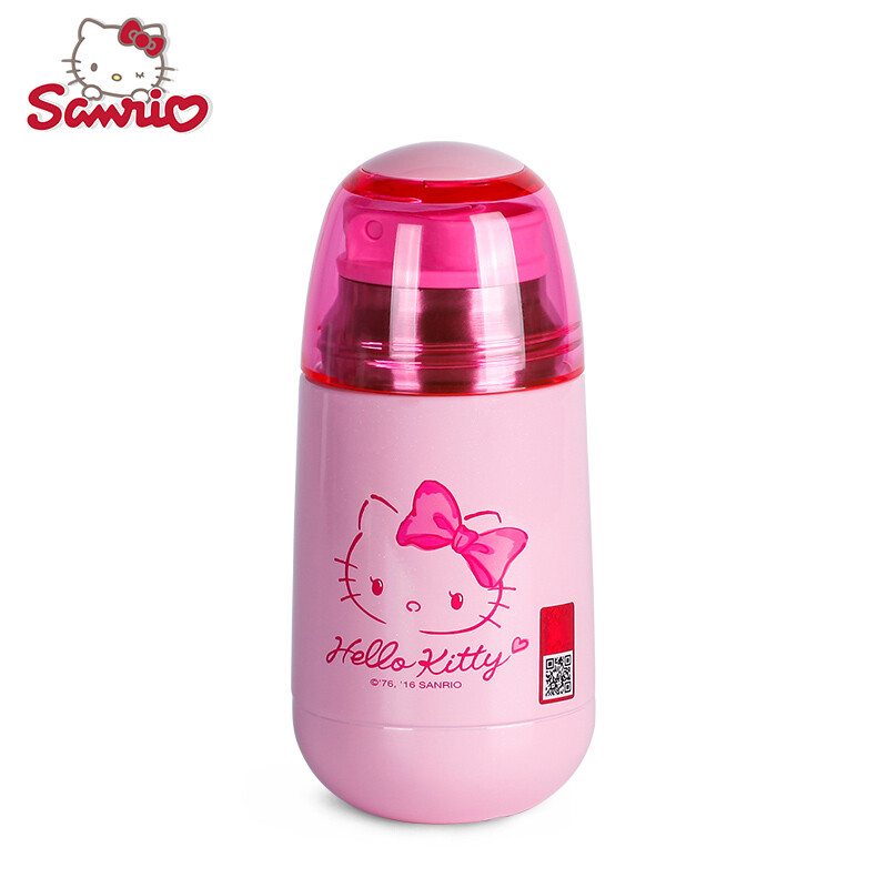 HELLO KITTY (potty cat) mug with cup set vacuum stainless steel cup - hello kitty potty