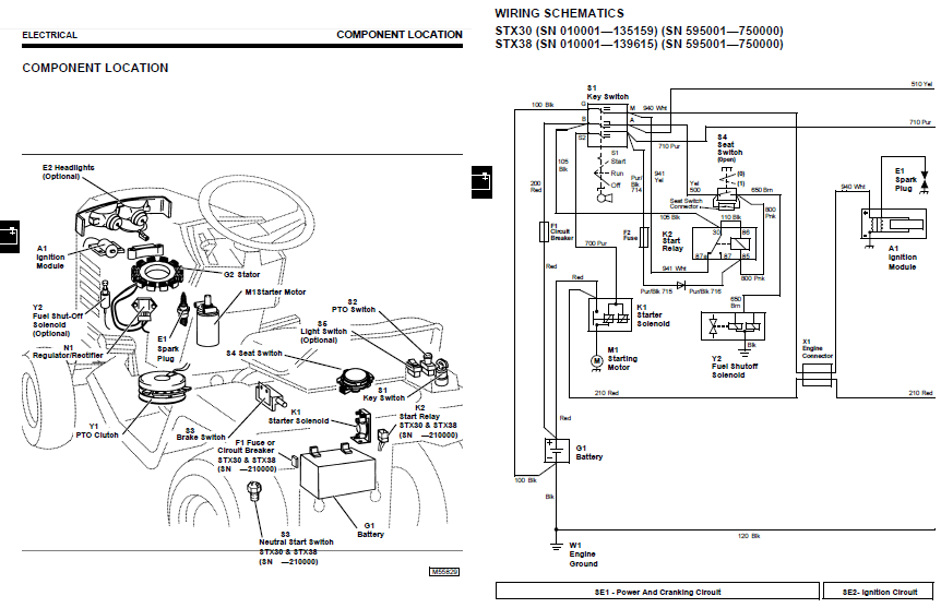 johndeerestxwiring john deere stx38 stx 38 wiring harness