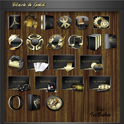 Nova Launcher 3d Wallpaper Black And Gold By Icebabee On Deviantart