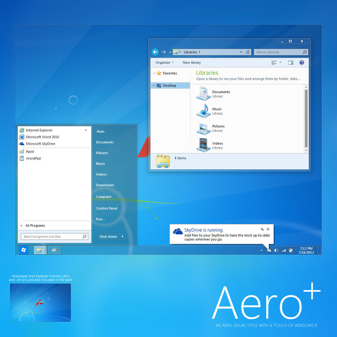 Classic 3d Desktop Workplace Wallpaper Aero By Giro54 On Deviantart