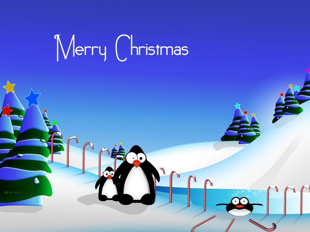 Cute Penguin Wallpaper Cartoon Penguins Christmas Fun Pack By Digitalphenom On Deviantart