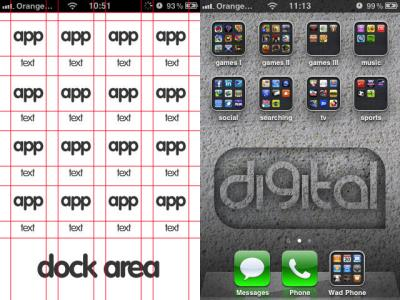 Iphone,Ipod Wallpaper template by Bushwad on DeviantArt