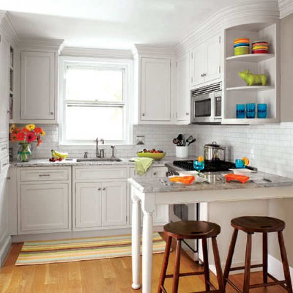 a small kitchen renovated to create more working space