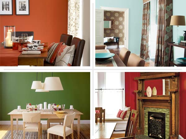Modern House Modern Dining Room In Orange Color Colored Rooms Home