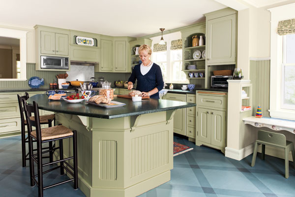 This Old House Kitchen Island Ample Kitchen Island Room: After | Supersizing The Island