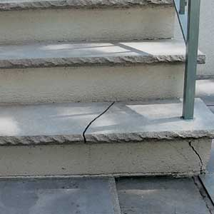 Cracked Stone Tread Stairs Interior This Old House