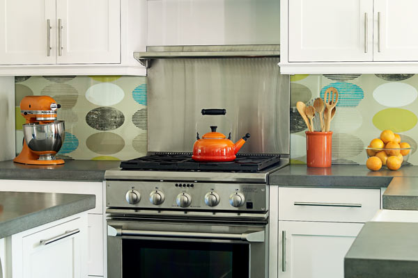 wallpapered backsplash ways give home personal stamp roundup wallpaper backsplash apartment therapy