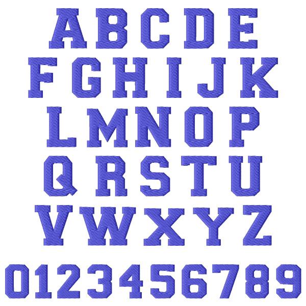 Sport Font Embroidery Font AnnTheGran