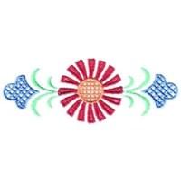 Single Flower Border Embroidery Design | AnnTheGran