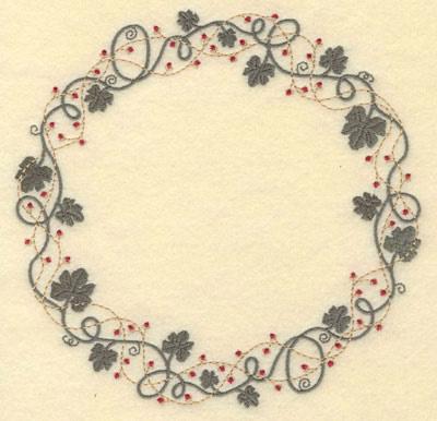 Vine Circle Border Embroidery Design AnnTheGran