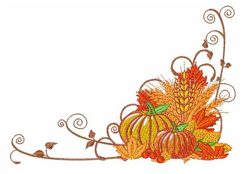 Autumn Harvest Border Embroidery Design AnnTheGran