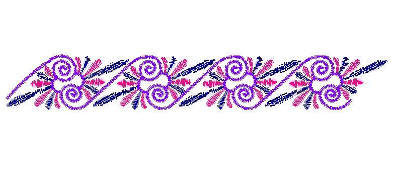 Scrolling Border Embroidery Design AnnTheGran