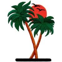 Palm Trees Embroidery Design | AnnTheGran
