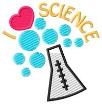 I Love Science Embroidery Design | AnnTheGran