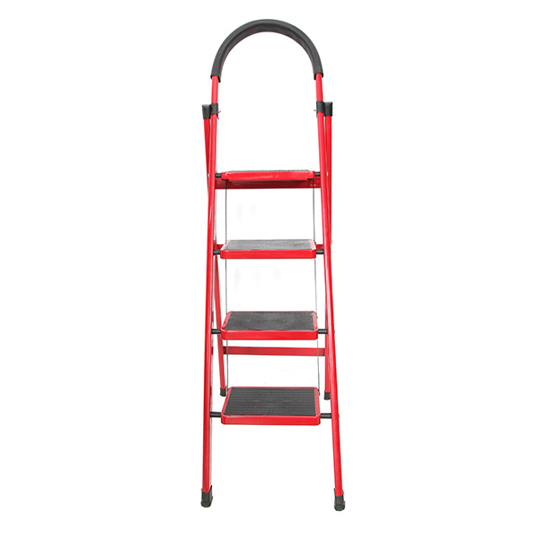 4 Steps Folding Aluminum Step Ladder With Long Handrail