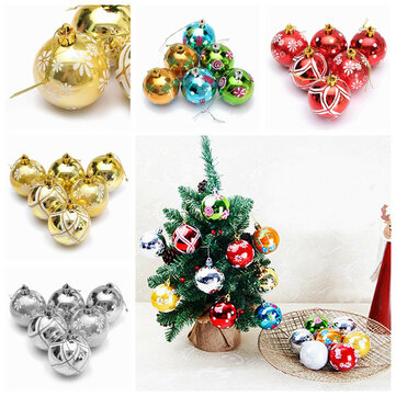 Plastic Christmas Baubles Handmade \ Painted Ball Tree Balls - plastic christmas decorations