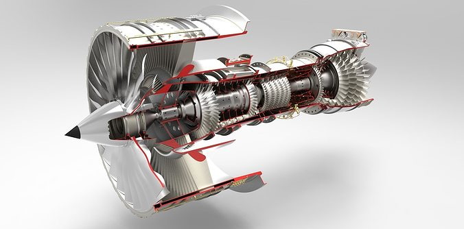 Free Hd Animated Wallpapers For Windows 7 Jet Engine 3d Model Cgtrader