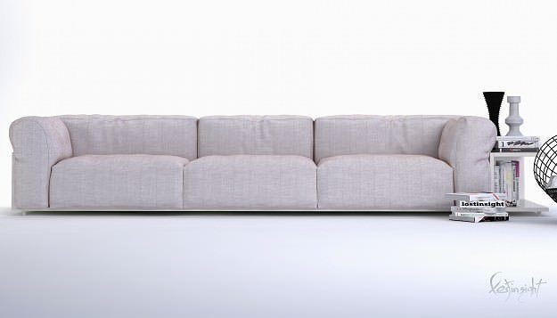 Sofa 3d Modeling 3d Model Modern Long Sofa | Cgtrader