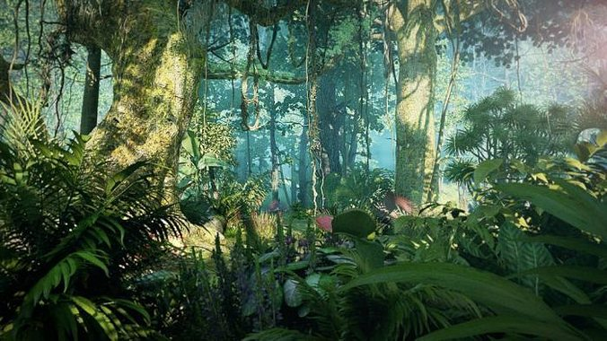 3d Mushroom Garden Wallpaper Download 3d Model Rainforest 001 Cgtrader