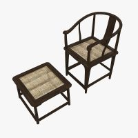 Chair and Table Fritz Hansen China Tradit... 3D Model MAX