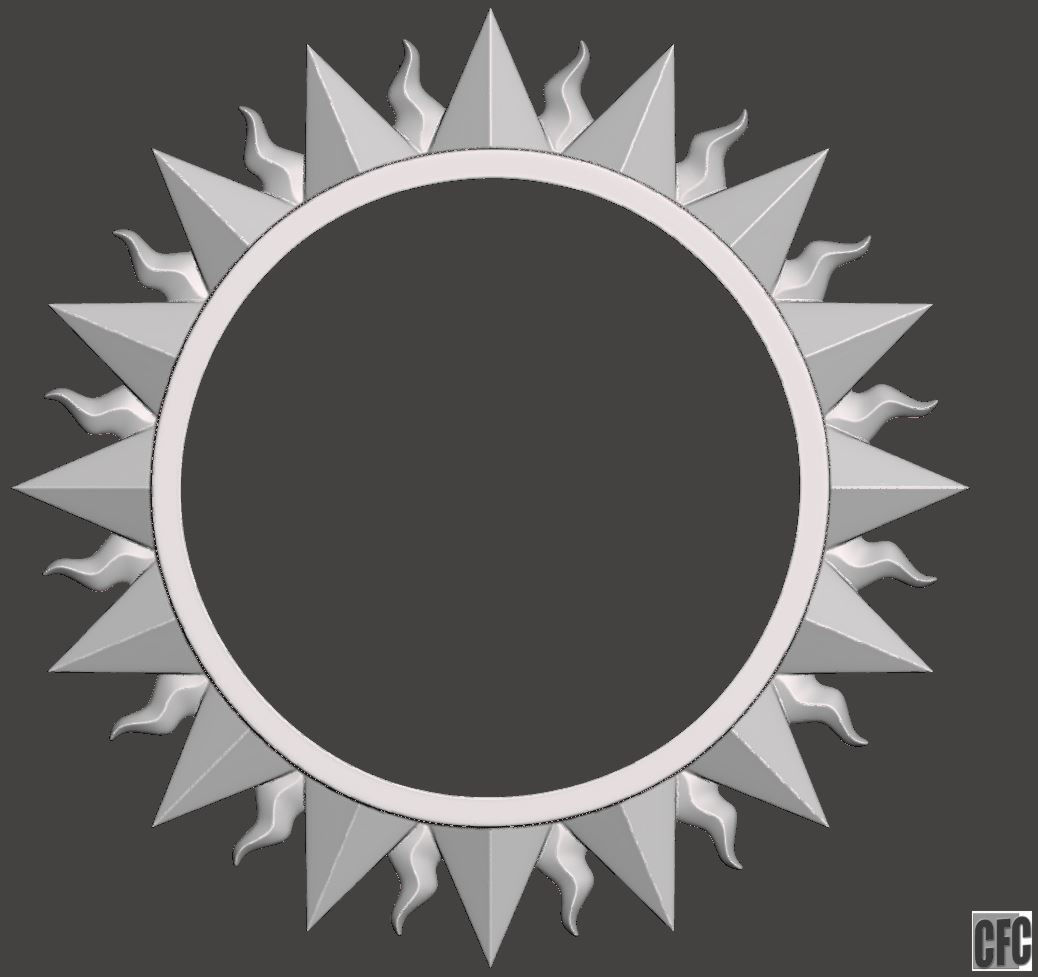 Sun Shaped Mirrors Sun Shaped Frame For Mirrors Or Pictures 3d Model For Cnc 3d Print Model