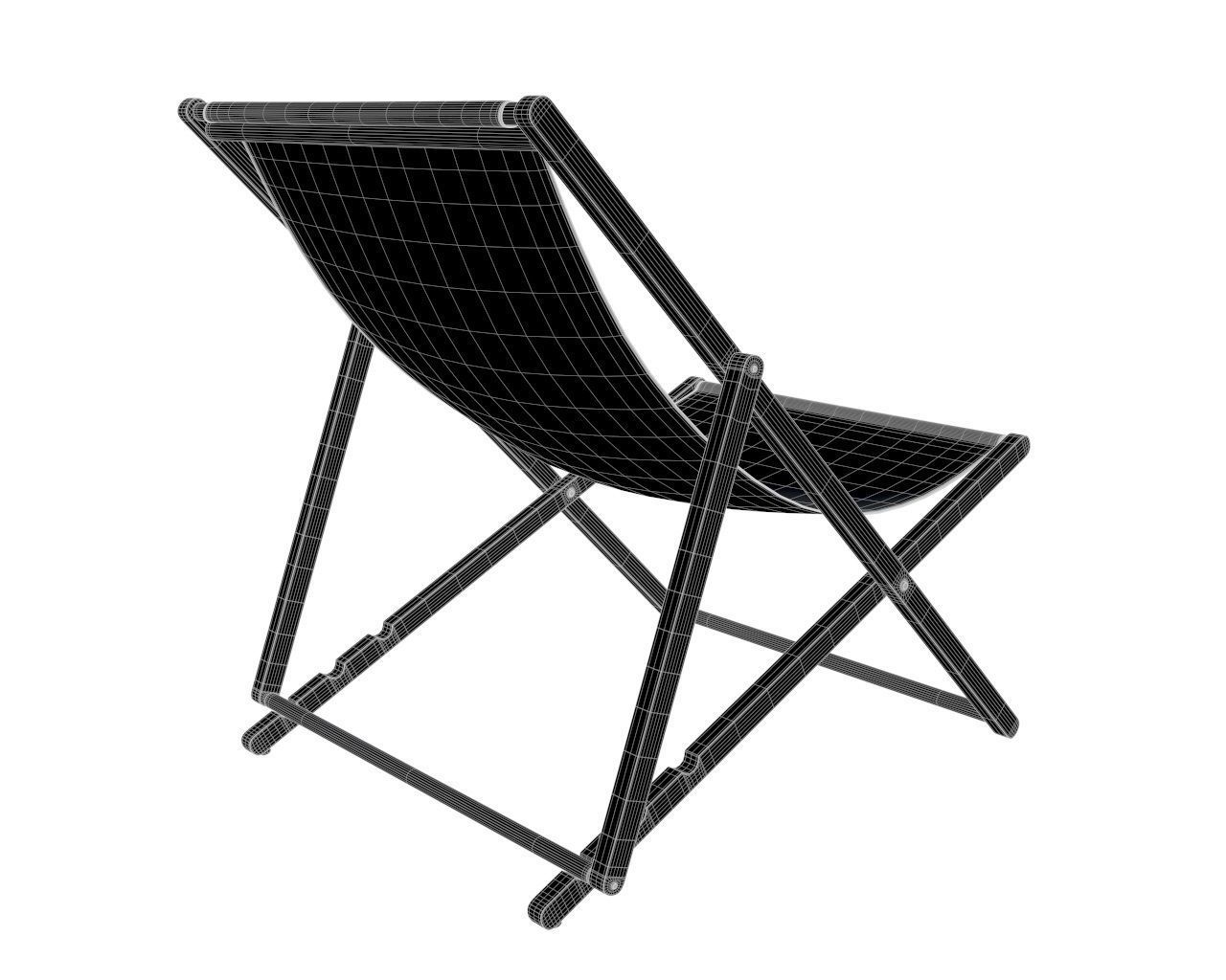 White Plastic Sun Loungers Beach Sun Lounger 3d Model