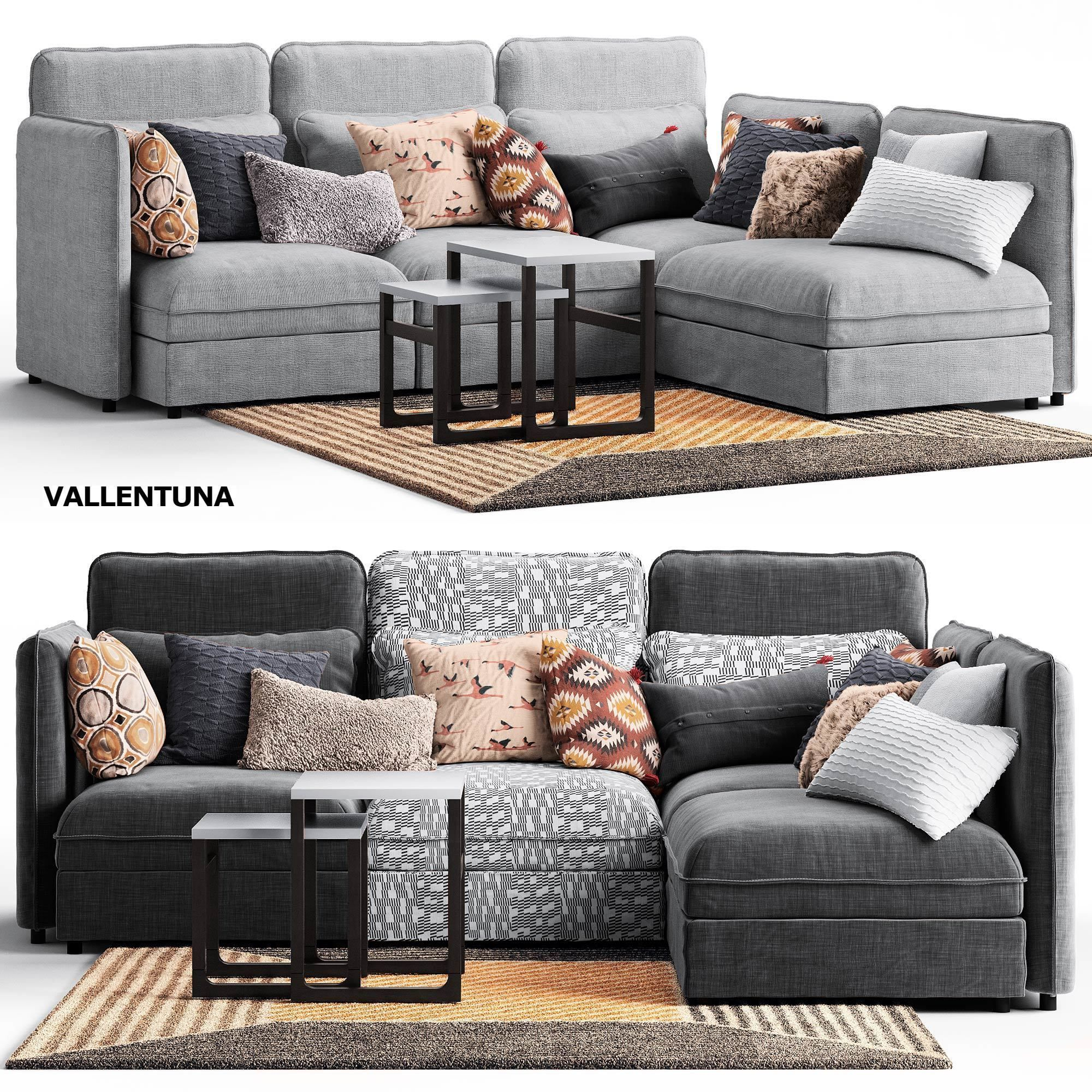 Couch Ikea Sofa Vallentuna Ikea 3d Model