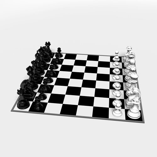 3D printable model Chess board CGTrader