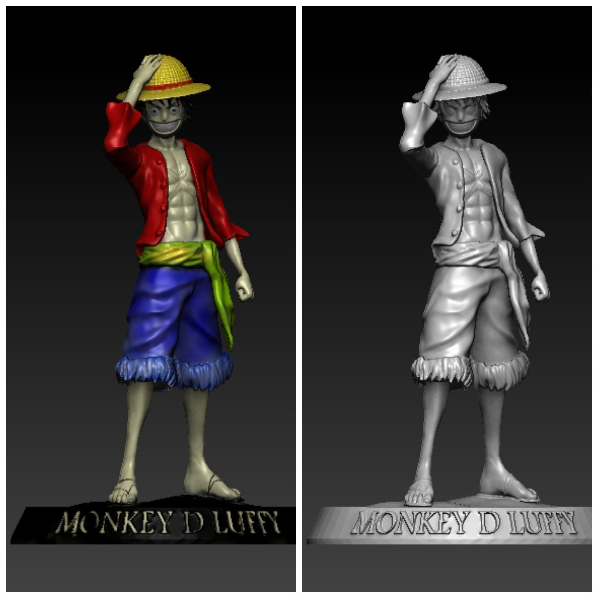 D Print Monkey D Luffy From One Piece 3d Print Model