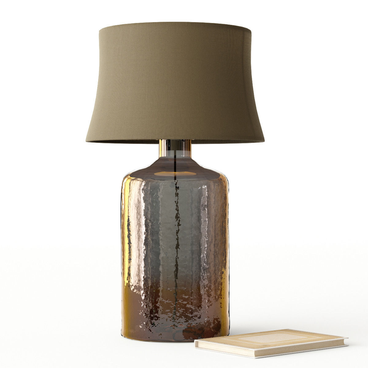 Table Lamp Base Pottery Barn Clift Glass Table Lamp Base Espresso 3d Model