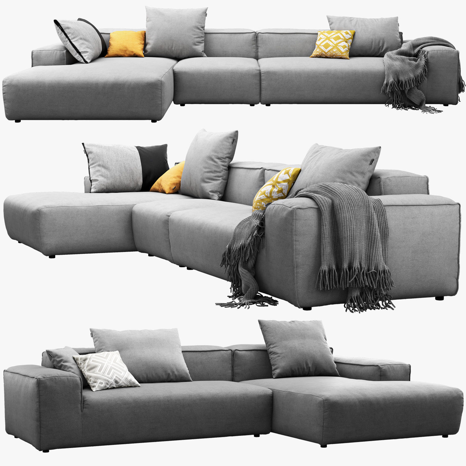 3d Model Rolf Benz Freistil 175 Modular Sofa Set 2