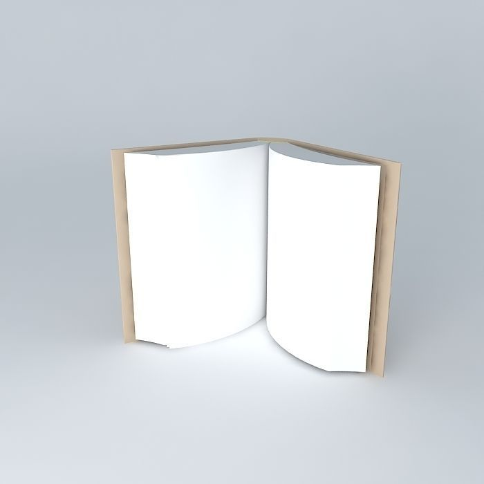 3D opened book CGTrader - opened book