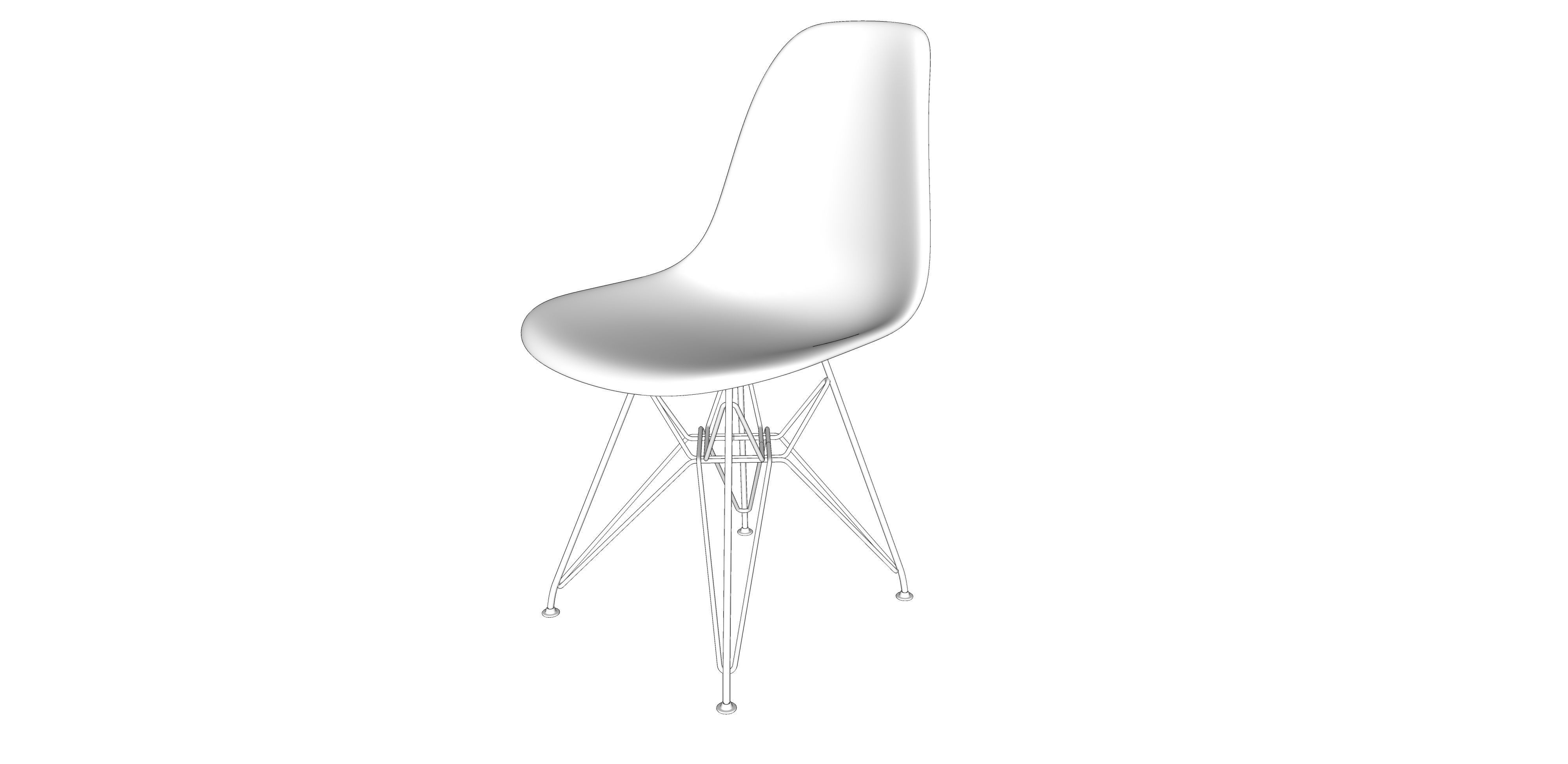 Vitra Eames Side Chair 3d Model 29 Vitra Eames Plastic Side Chair Cgtrader