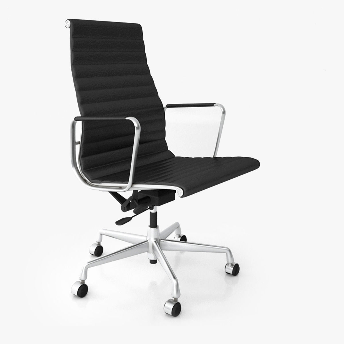 Eames Alu Chair Vitra Aluminium Office Chair Ea 119 3d Model Max Obj Fbx
