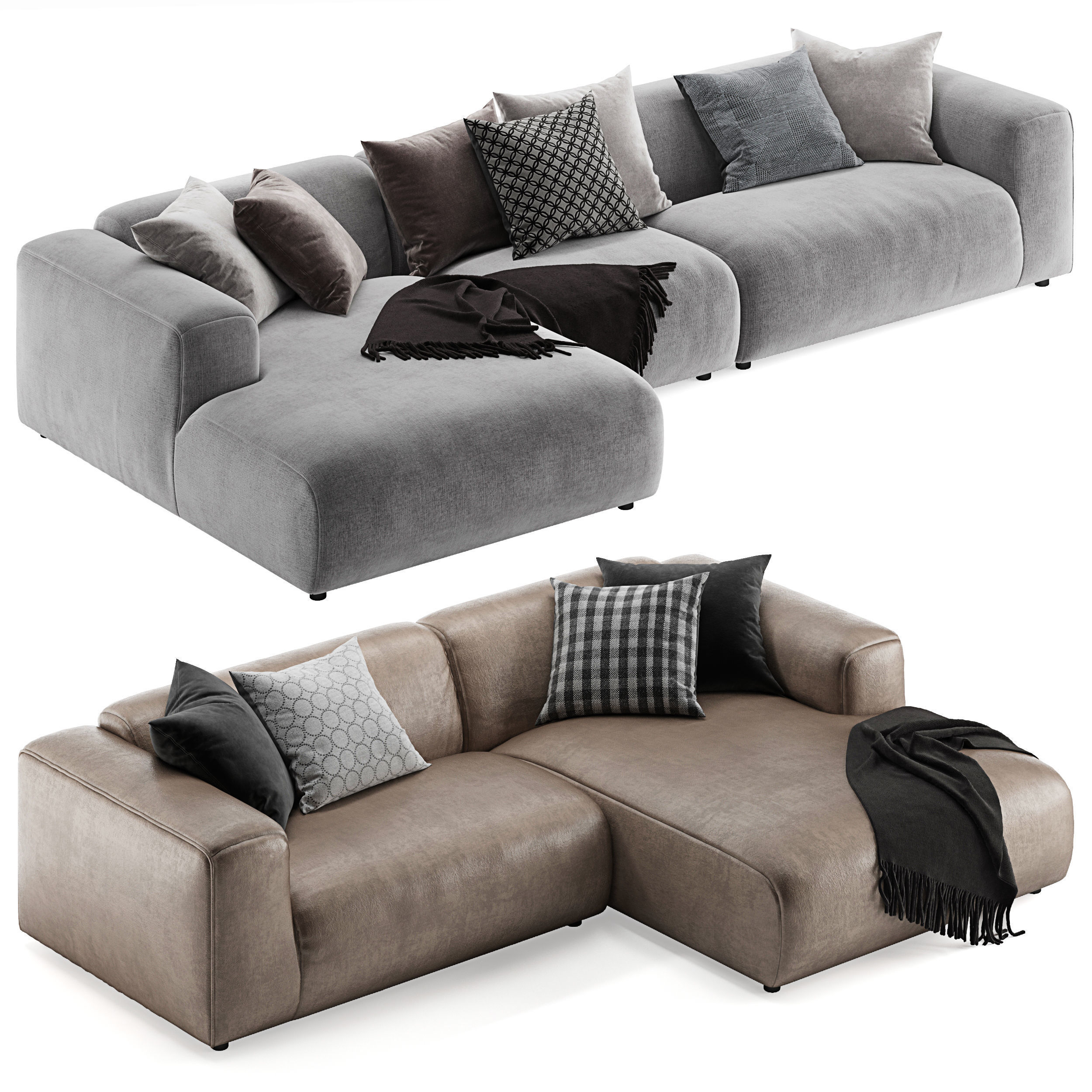 Freistil Sofa Rolf Benz Freistil 187 L Sofa 3d Model | Cgtrader