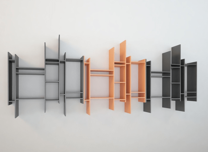 Bookcase Modern Design Mdf Randomito 3d Model Cgtrader