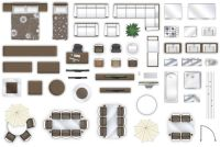 2d furniture floorplan view style-3 3D | CGTrader