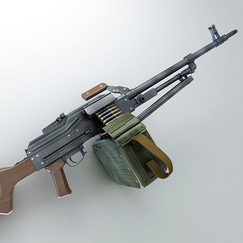 3d Wallpaper Printing Machine Pk Machine Gun Hi Res 3d Model Max Obj Fbx Lwo Lw Lws Ma