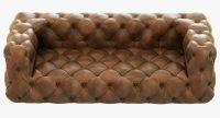 Restoration Hardware Soho Tufted Leather Sofa 3D Model MAX ...