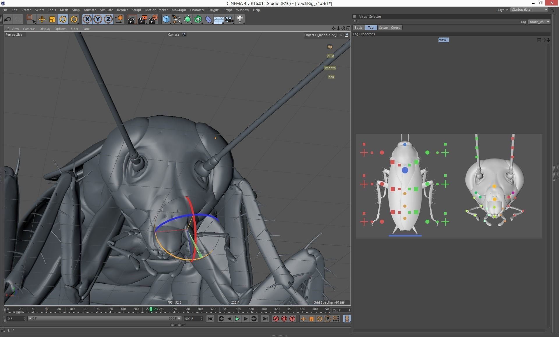 3d Models For Animation Cockroach Rigged And Animated For Cinema 4d 3d Model