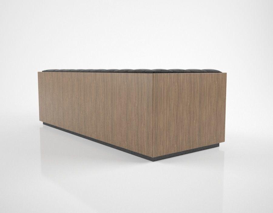 Milo Baughman Rosewood Case Sofa 3D CGTrader