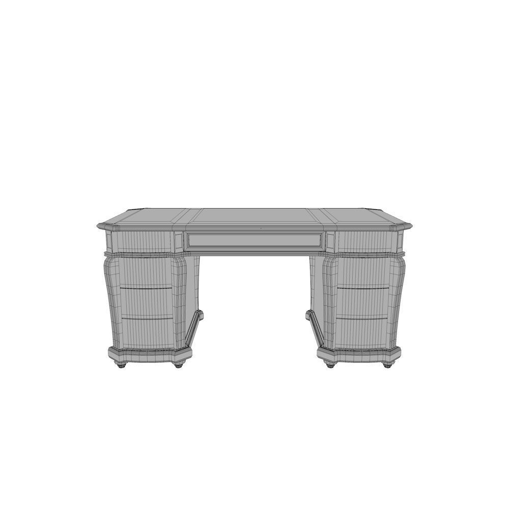 White Office Desk Ornate Office Desk Table 3d Model