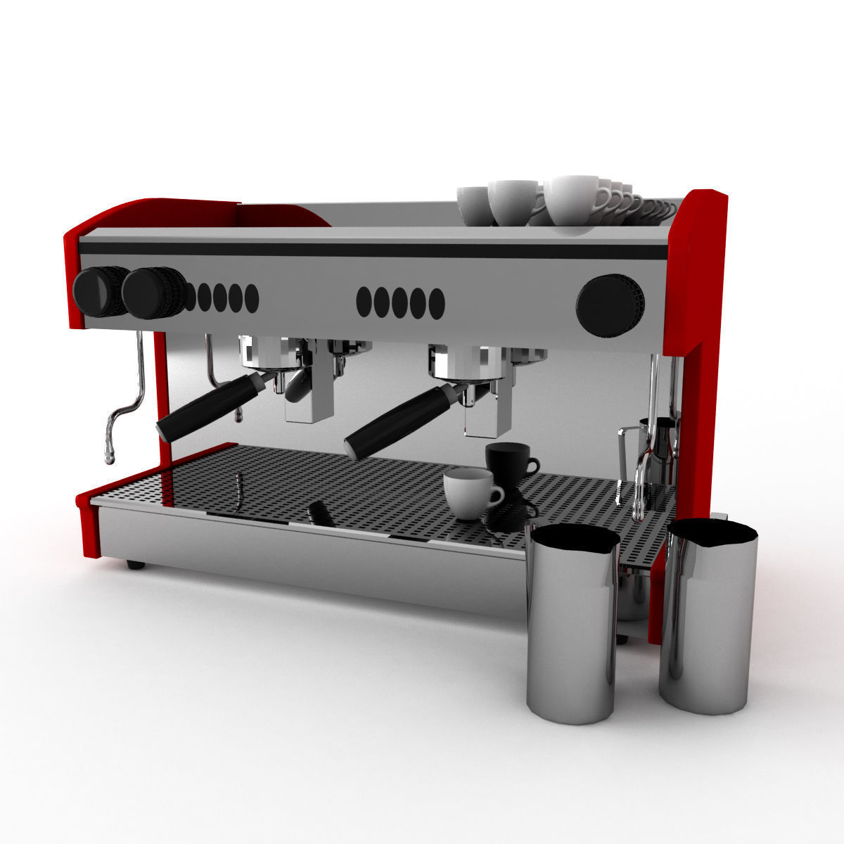 Machine A Cafe Cafe Coffee Machine For Barista 3d Model