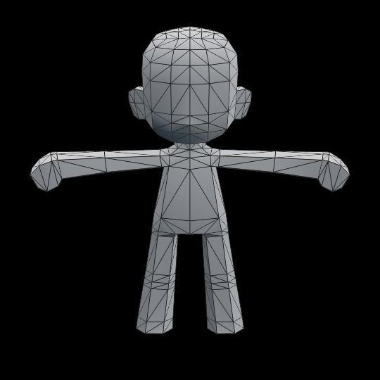 3D asset Chibi character template for games CGTrader