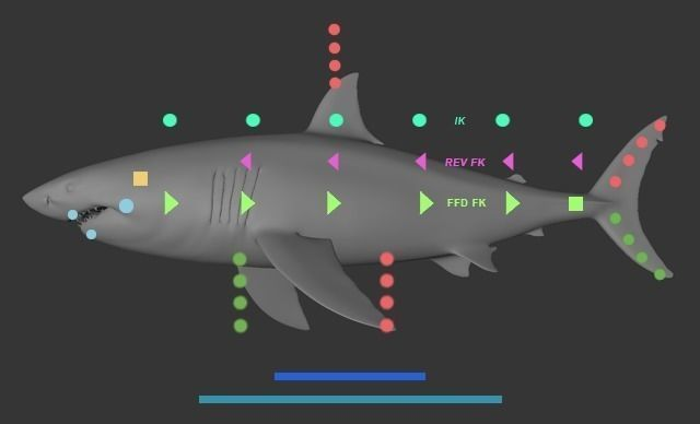 Fish custom Character template for Cinema 4d 3D model - character model template