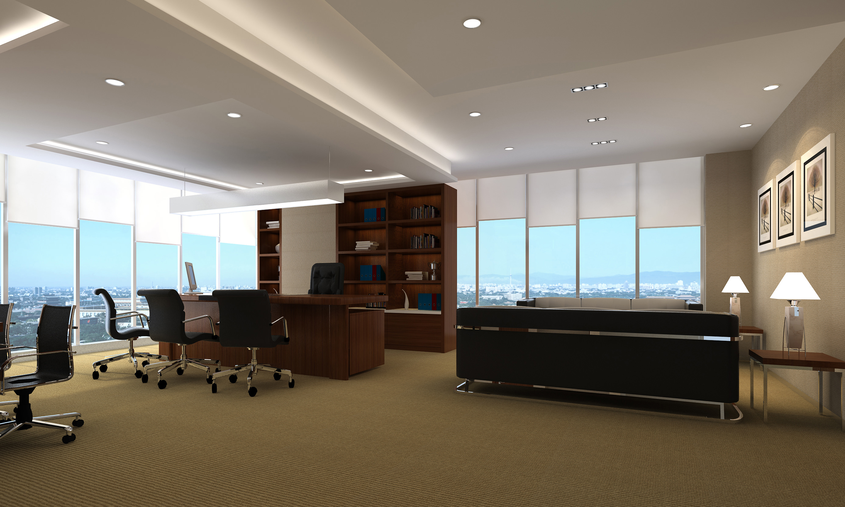 Stylish Furniture Office With Stylish Furniture 3d Model