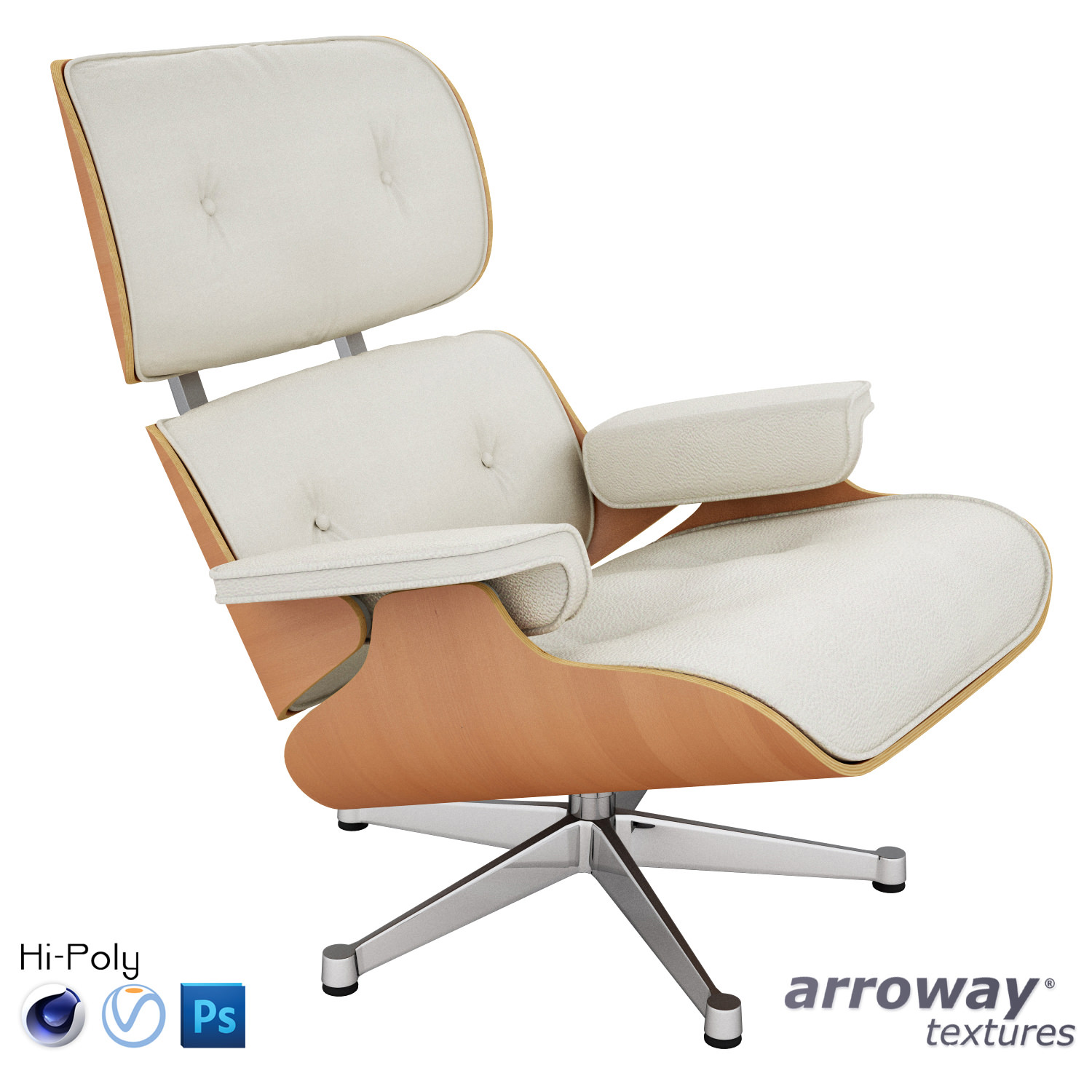 Vitra Eames Lounge Chair Vitra Lounge Eames Chair Hi Poly 3d Model