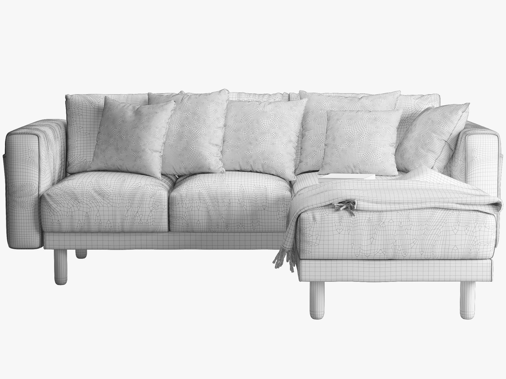 Sofa Ikea Chaise Ikea Norsborg Two Seat Sofa With Chaise Longue 3d Model