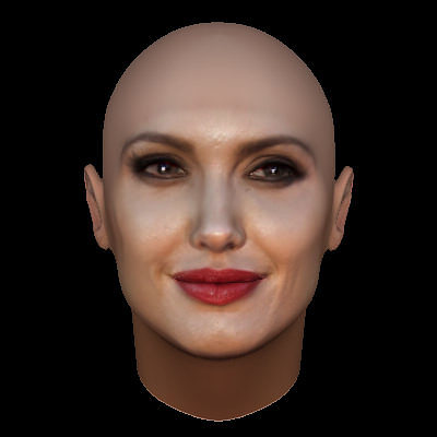 3d Wallpaper Making Software Free Download Angelina Jolie Face Model With Makeup 3d Cgtrader